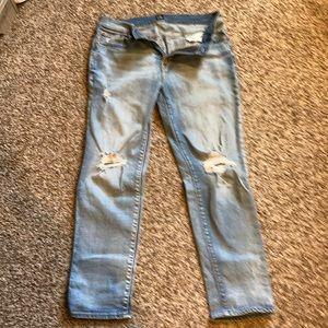 Gap best girlfriend jeans!